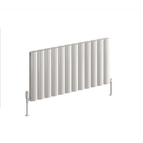 Reina Belva Single Horizontal Designer Radiator - 600mm High x 1036mm Wide - White
